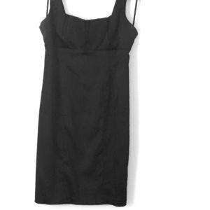Calvin Klein black silky cocktail dress